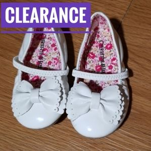 ❤5/$25❤ Toddler Girl White bow flats size 5